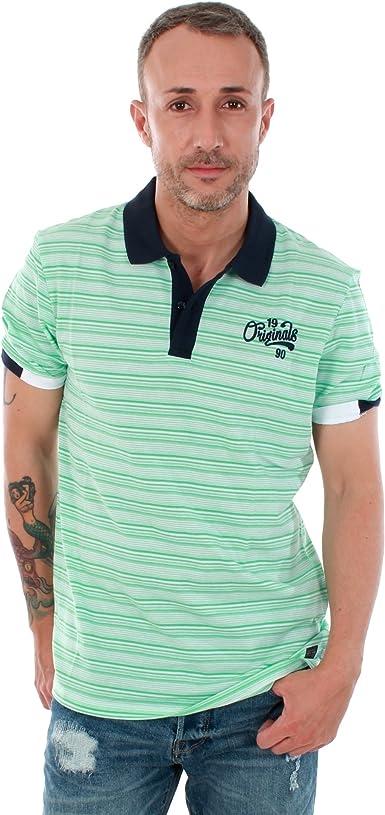 JACK ORIGINALS Polo Hombre Color 1/5BLANC/VERD Talla: L ...