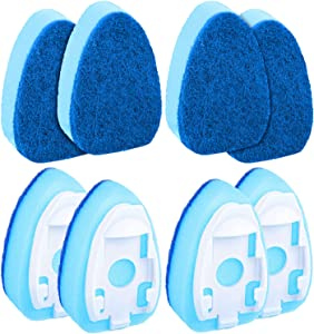 8 Pieces Dish Wand Refills Sponge Heads Dish Brush Sponge Pads Wash Wand Replacement Sponge for Kitchen Room Cleaning Supplies