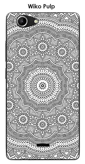 Onozo Carcasa Wiko Pulp Design Mandala rosetón: Amazon.es ...