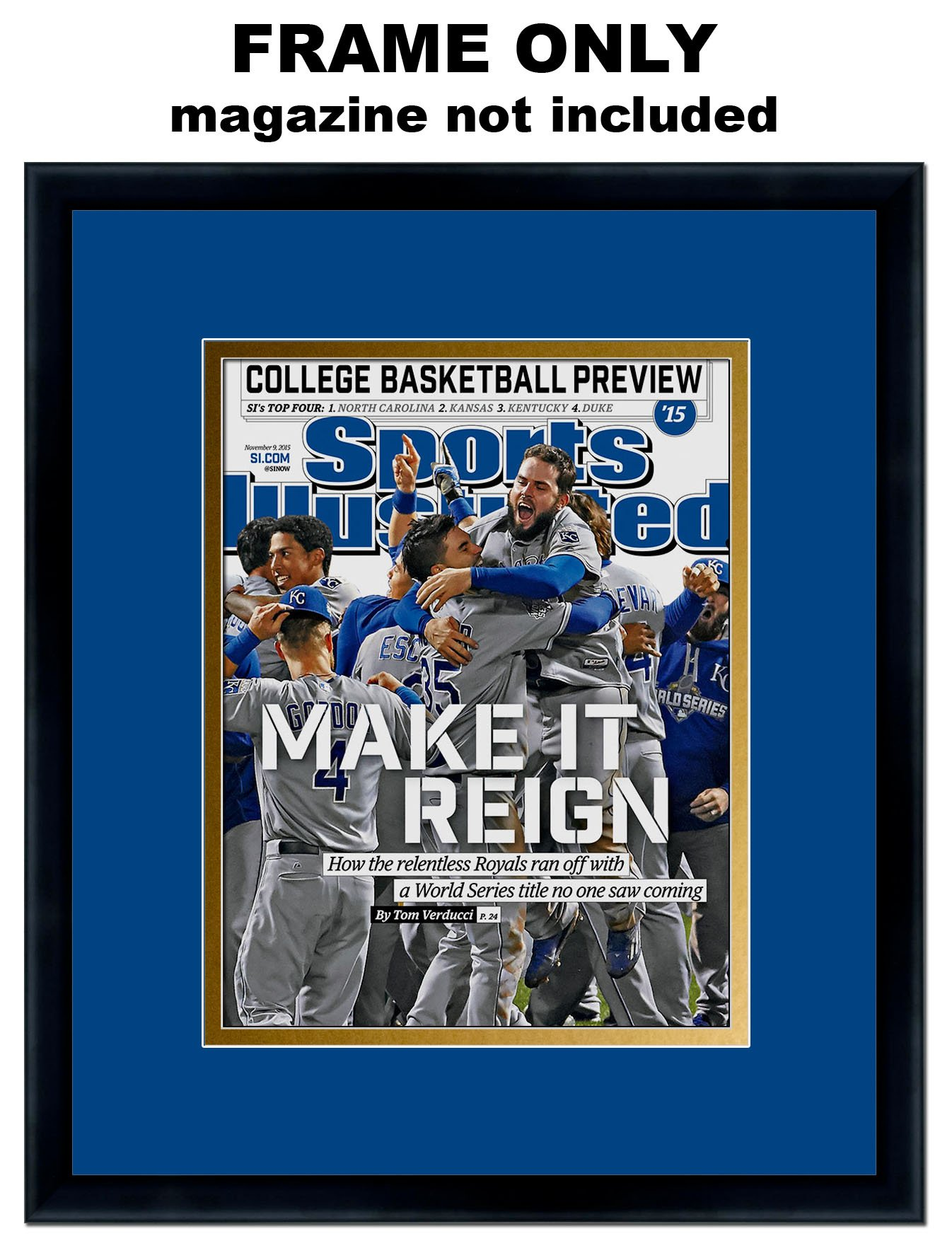 Sports Illustrated Magazine Frame - with Kansas City Royals Colors Double Mat by The Kansas City Star
