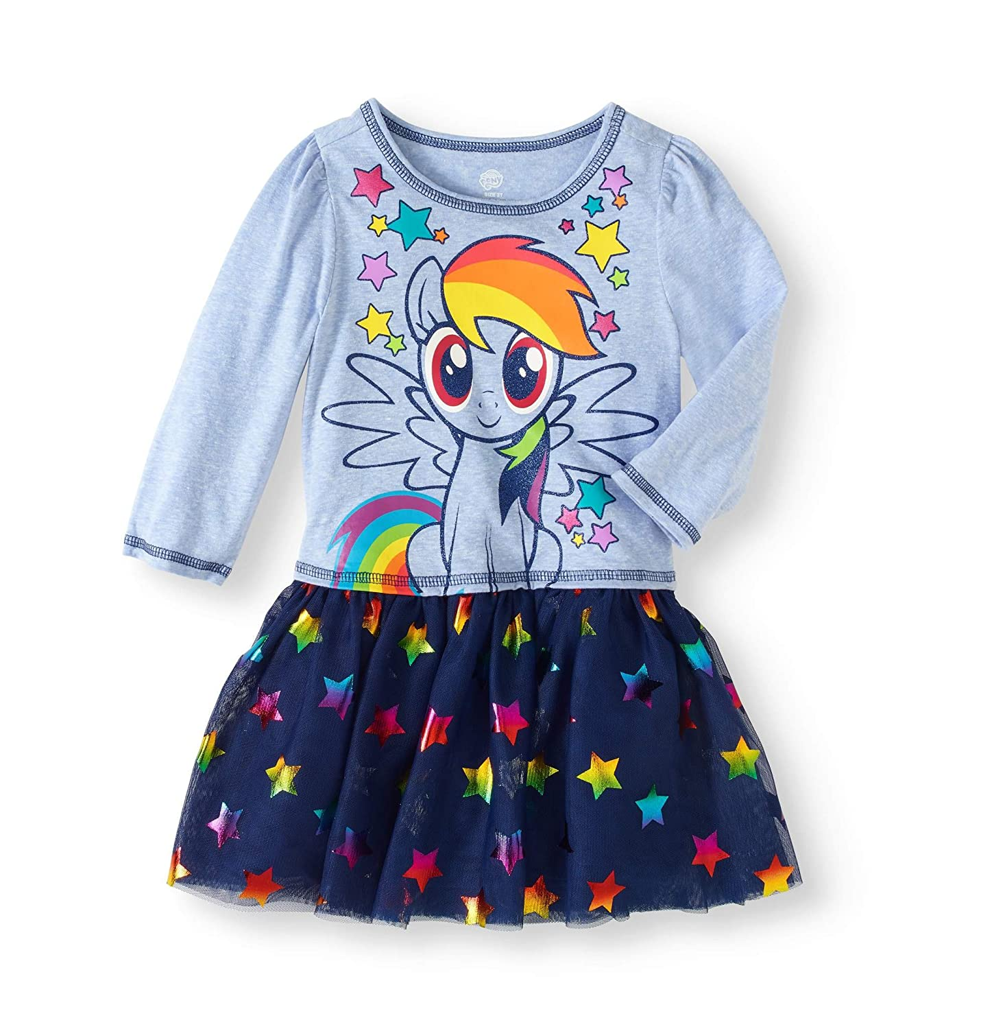 Toddler Girls My Little Pony I am Star Dress with Tutu Skirt (2T)