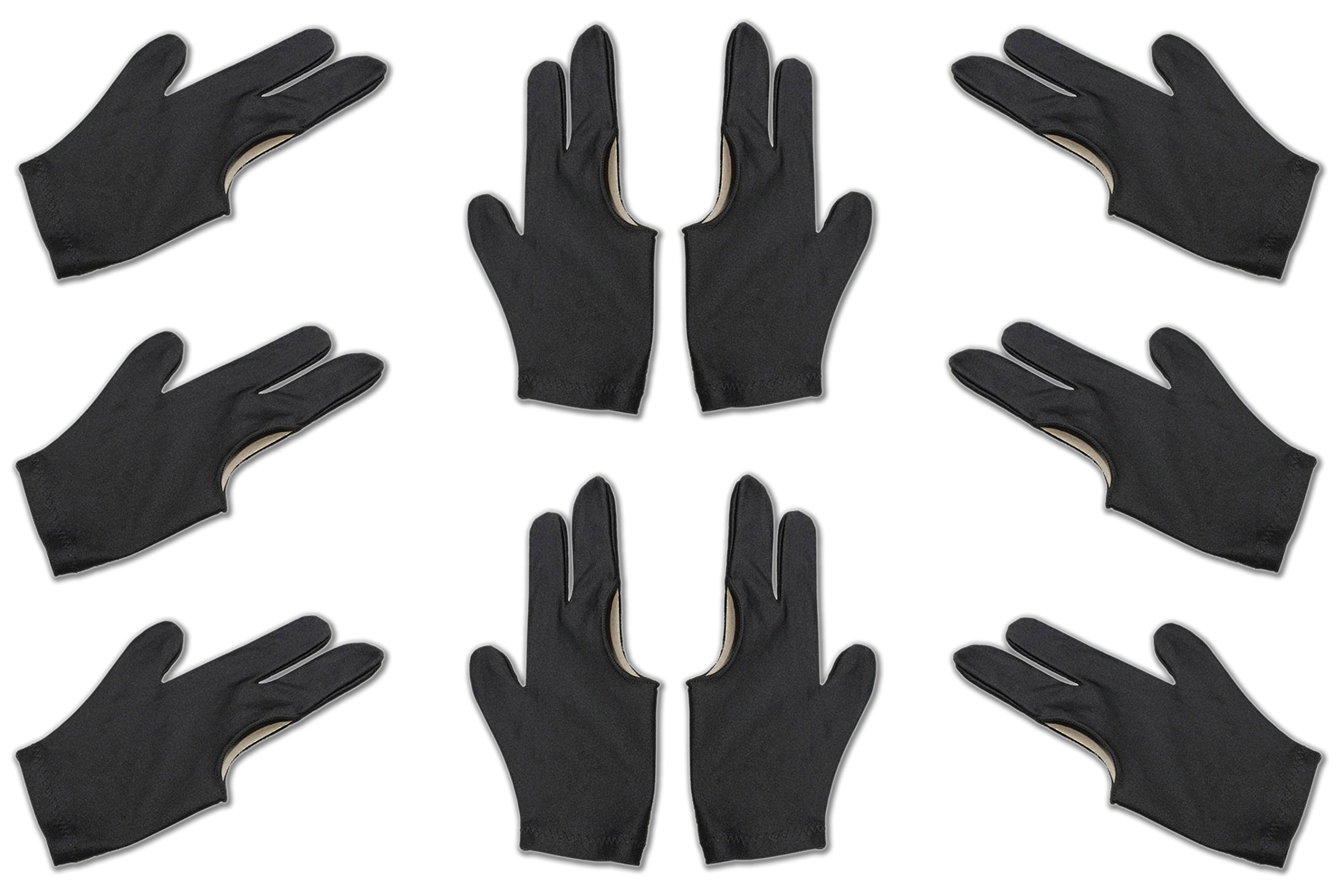 Billiard Depot 10pcs/set 3 Finger Billiard Gloves Pool Cue Gloves