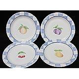 Pfaltzgraff Hopscotch USA Set of 4 Salad Plates All 4 Fruits 8