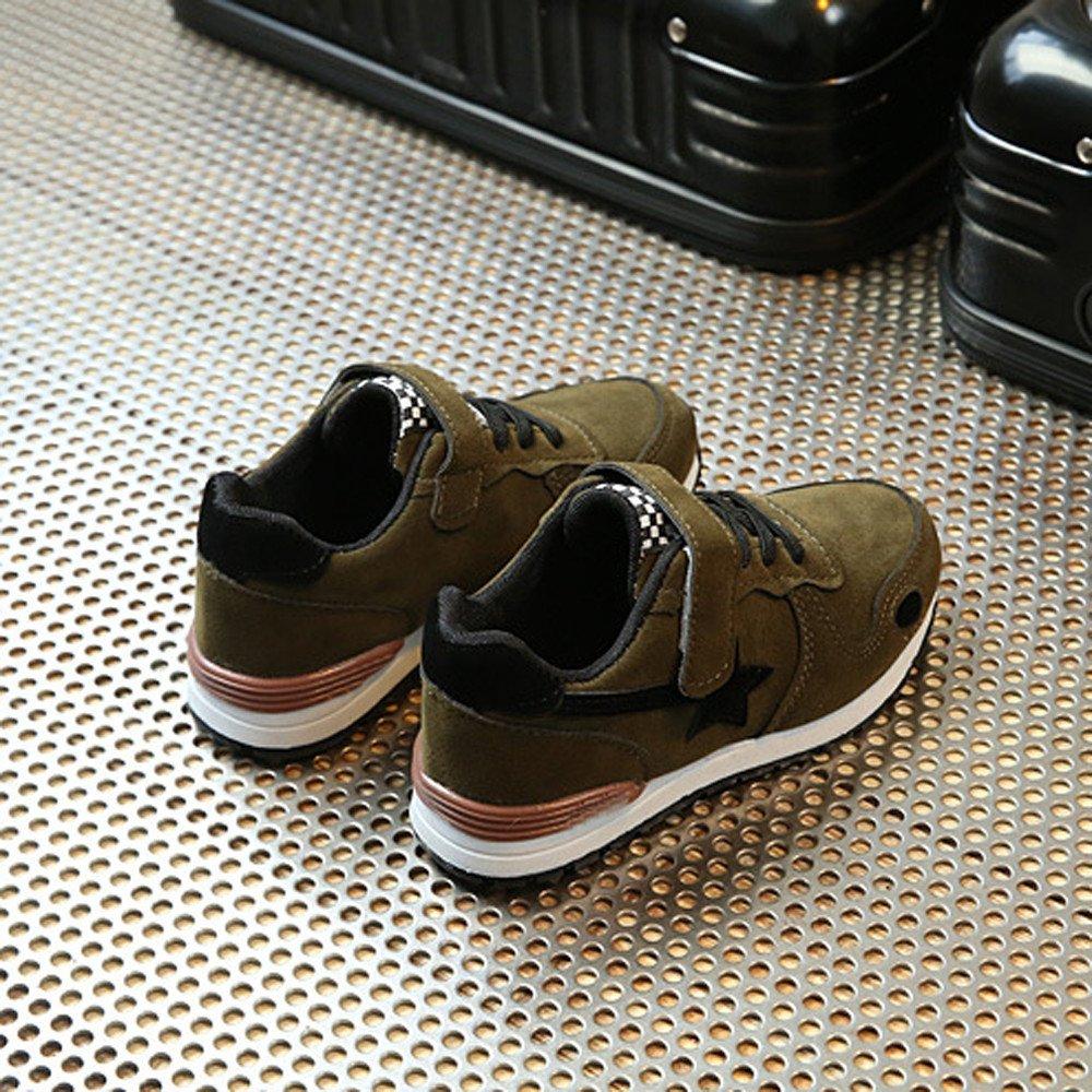 WINJIN Chaussures Casual Baskets Enfants Garcons Filles Chaussures de Sport pour B/éb/é Garcons Filles Mesh Chaussure /Étoile Imprim/é Sneakers Filles Shoes pour 2-15 Ans Enfants Rose Noir Vert