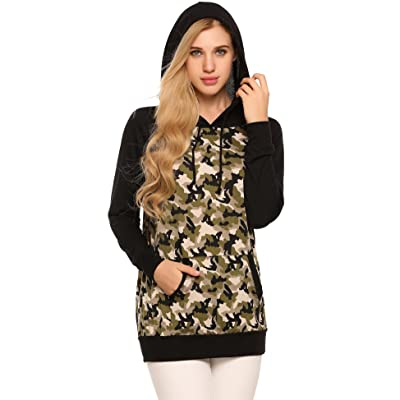 Zeagoo Women's Long Sleeve Camouflage Pullover Hoodie Camo Sweatshirt With Pockets S-XXL