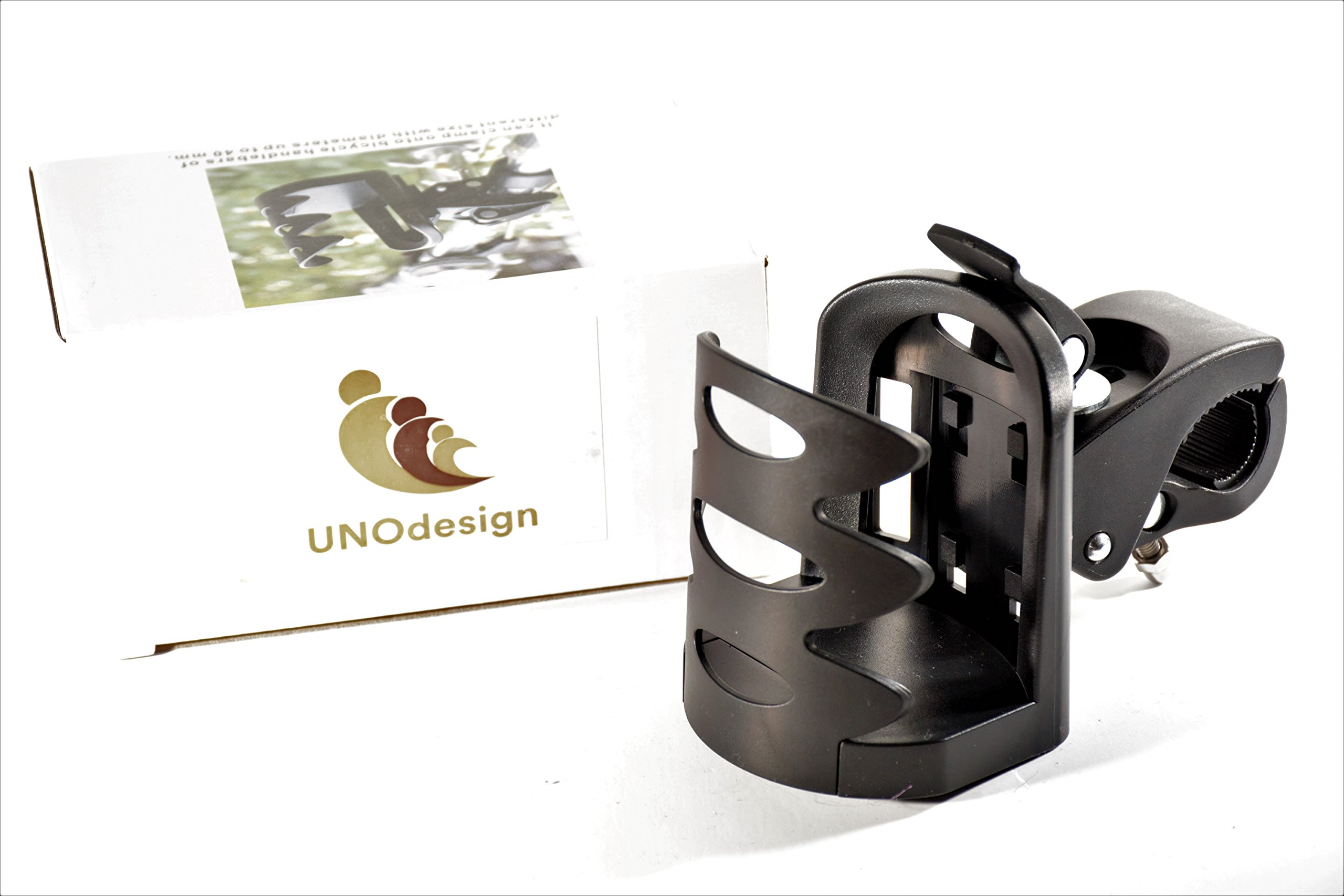 Universal Stroller Cup Holder | Fully Adjustable Attachable Drink Holder Fits All Strollers, Bike, Wheelchair, Pushchair | Sturdy Grip Adjustable Water Bottle Holder by NOUdesign by NOUdesign (Image #4)