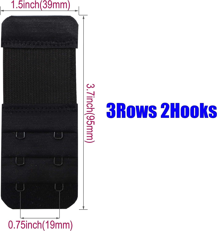 Tamlien 2 Hook Bra Extenders,Stretchy Soft and Comfortable Bra Strap Extender