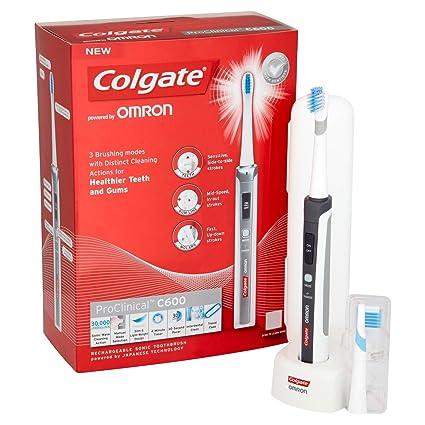 Colgate C600 - Cepillo de dientes eléctrico sónico, color blanco
