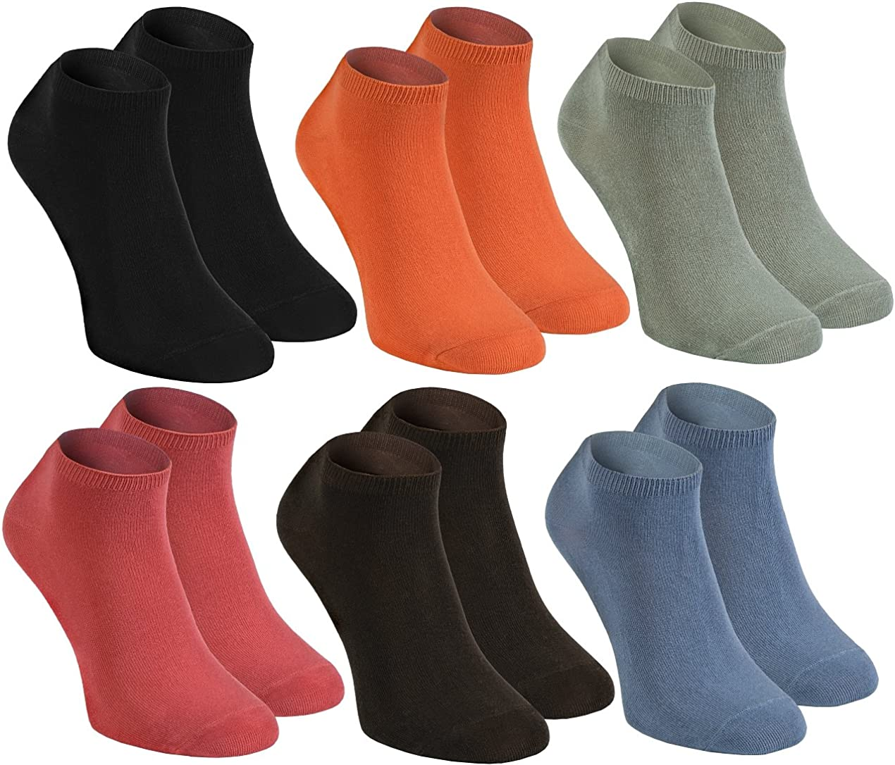 Rainbow Socks - Hombre Mujer Calcetines Cortos Colores de Bambu