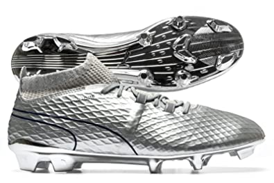 Puma One Chrome FG Football Boots - Silver Blue Depths - Size 9.5 ... f9080f23ae