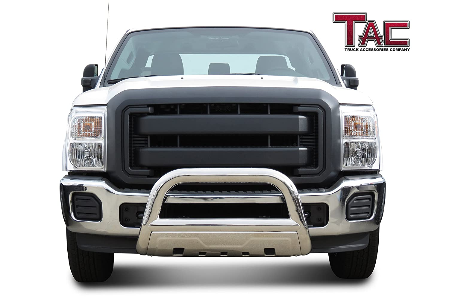 TAC Bull Bar for 2011-2016 Ford F250//F350//F450//F550 Super Duty 3.5 inches Oval T304 Stainless Steel Front Brush Bumper Guard Grille Guard Push Guard Off Road Exterior Accessories