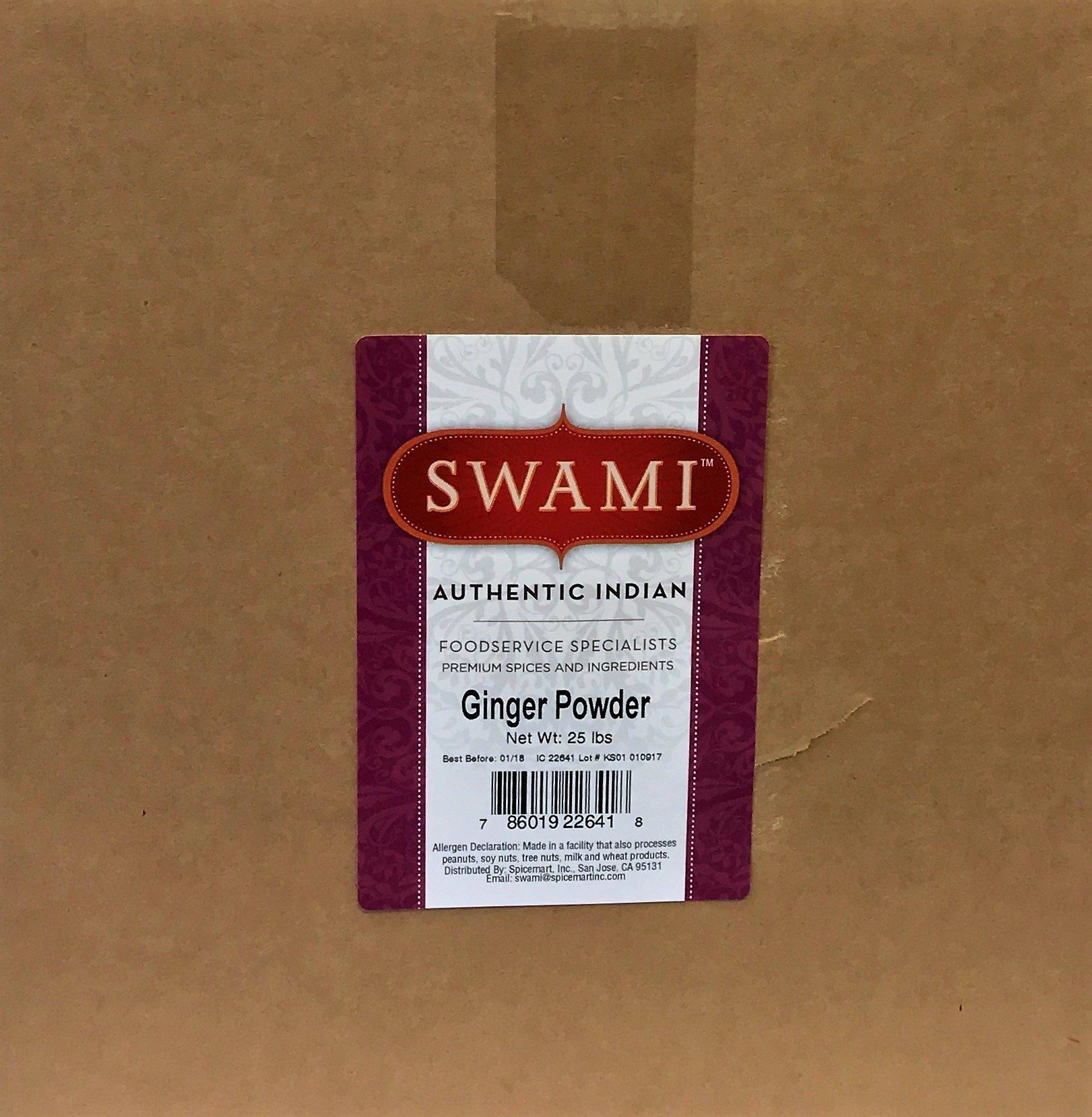 Swami Ginger Powder 25lb Box by Spicemart