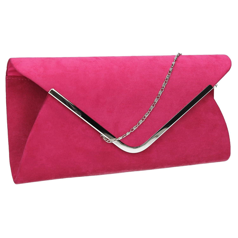 SWANKYSWANS Karlie Suedette Womens Clutch Bag Black