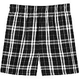 Mens Soft & Cozy Plaid Flannel Pajama Boxer Shorts . Young Mens Sizes: XS-4XL