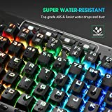 PICTEK Mechanical Gaming Keyboard, RGB LED