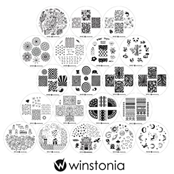 Winstonia Nail Art Image St&ing Plates Collection Set 20 pc 4th Generation - NEW \u0026 HOT  sc 1 st  Amazon.com & Amazon.com : Winstonia Nail Art Image Stamping Plates Collection ...