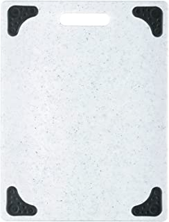 product image for Dexas Superboard Cutting Board with Handle and Non-Slip Feet, 11 by 14.5 inches, Light Granite Color with Black Non-Slip Corners