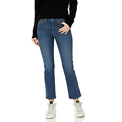 Brand - Goodthreads Women's Mid-Rise Slim Straight Jeans: Clothing