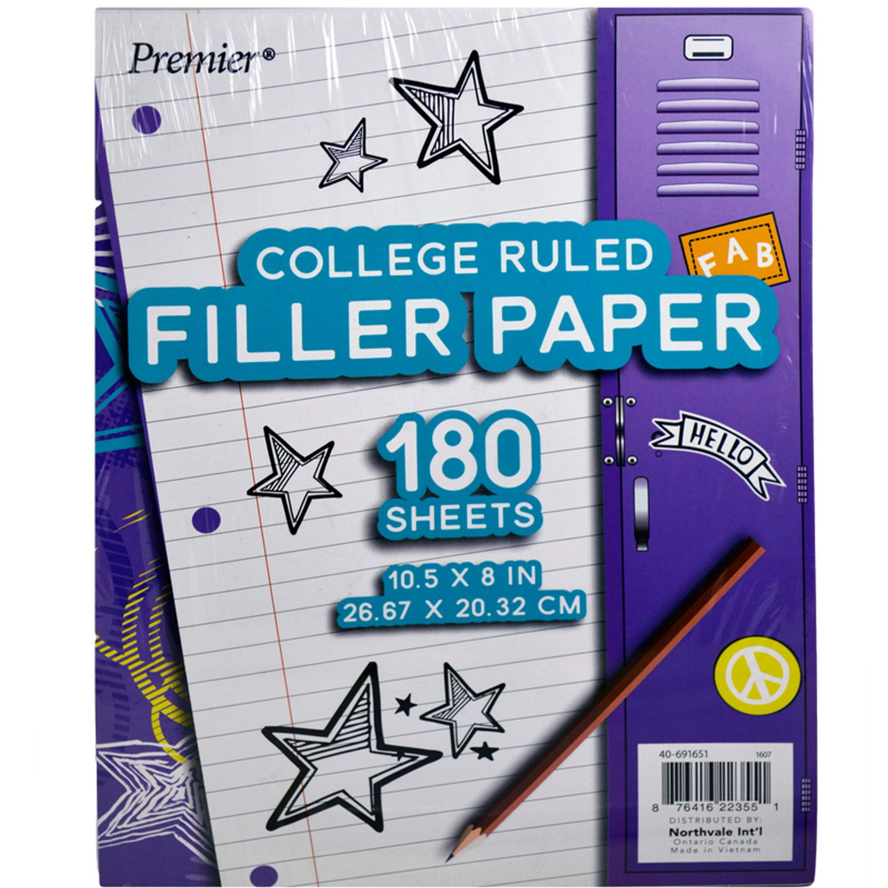 (Pack of 24, 4320 Ct) Premier Filler Paper College Ruled, 180ct by Unknown (Image #1)