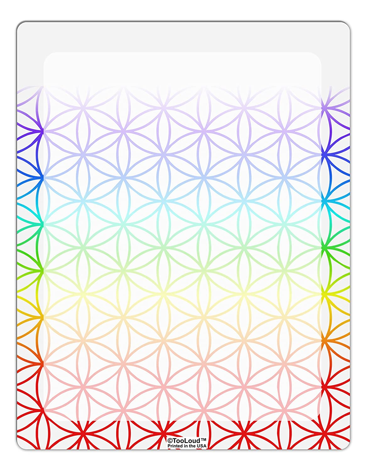 TooLoud Chakra Flower of Life on White Aluminum Dry Erase Board All Over Print
