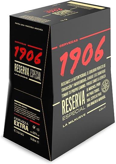 1906 Reserva Especial Cerveza - Pack de 6 x 33 cl - Total: 1980 ml ...