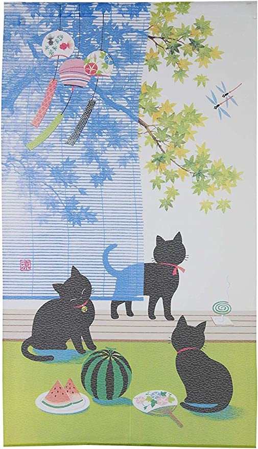 JAPANESE Noren Curtain NEW KITCHEN CAT85x150cm  MADE IN JAPAN