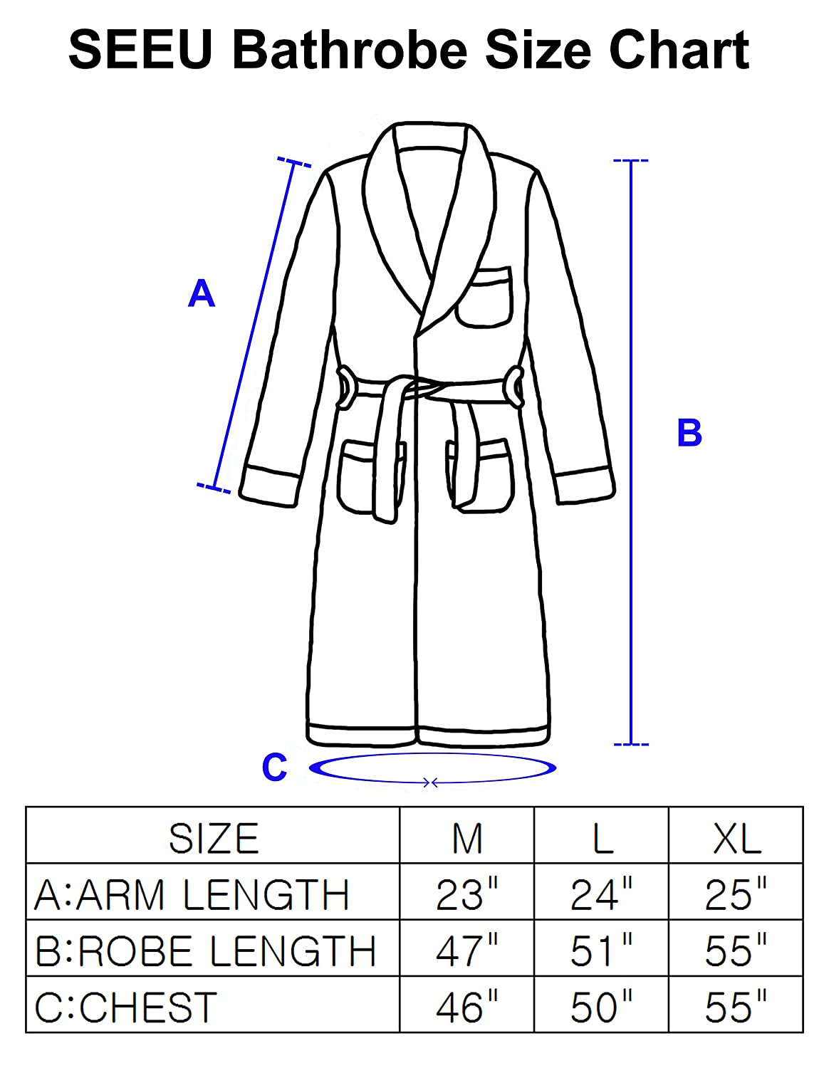 cb6ae84453 SEEU Women Soft Fleece Bathrobe with Zip Full Length Fluffy Dressing Gown  with 2 Side Pockets at Amazon Women s Clothing store