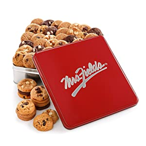 Mrs. Fields Cookies Classic Nibbler Tin (60 Count) Includes 5 Different Flavors - Perfect Gift for any Holiday or Occasion