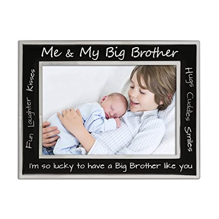 Big Brother Me And My Big Brother Photo Frame Silver Plated Matt
