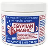 Egyptian Magic EMG10006 All Purpose Skin Cream Skin, Hair, Anti Aging, Stretch Marks All Natural Ingredients 4 Ounce Jar, 4 O