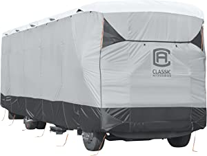 Classic Accessories Over Drive SkyShield Deluxe RV Class A Cover, Fits 37' - 40' RVs - Water Repellent RV Cover (80-373-102001-EX)