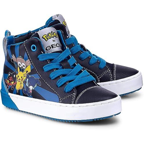 Geox Junior Alonisso Boy D - GBK + Suede - Navy Blue - Scarpe Alte ... 1fa7362381e
