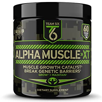 T6 Testosterone Booster – ALPHA MUSCLE-XT, Scientifically Formulated Muscle  Builder for Men