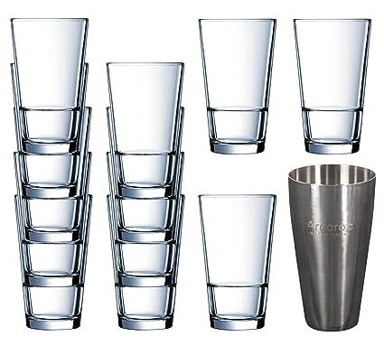 Arcoroc - Juego de 12 vasos altos profesionales de 470 ml y ...