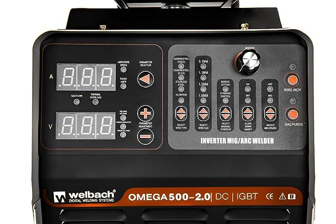 Welbach - OMEGA 500-2.0 - Equipo de soldar Profesional MIG-MAG - Envío Gratuito: Amazon.es: Bricolaje y herramientas