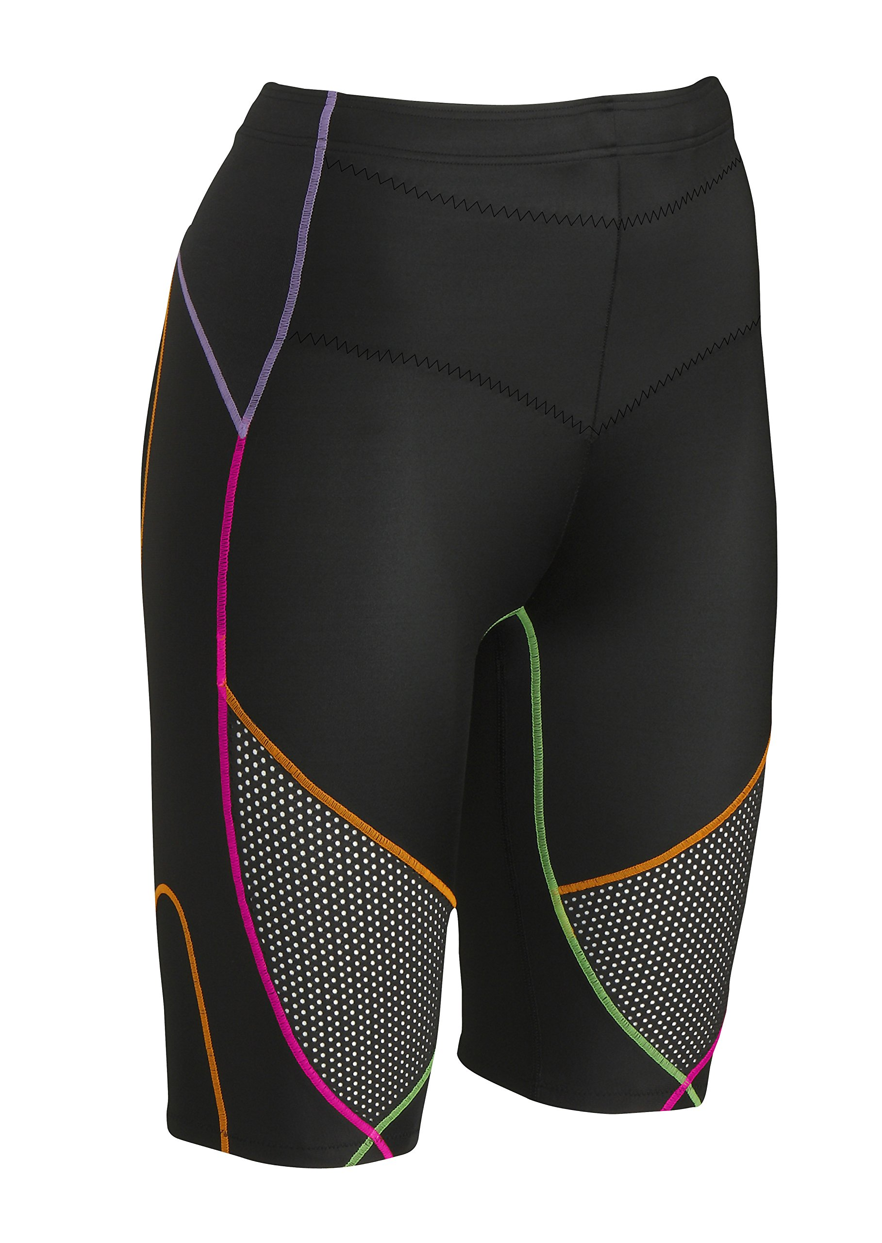 CW-X Men's Stabilyx Ventilator Short, Black/Rainbow Small by CW-X (Image #2)