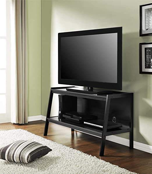 TV Stand Ameriwood Home Lawrence Ladder Entertainment Centers Wood Open Shelving