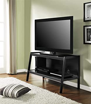 Amazon Com Ameriwood Home Lawrence 45 Ladder Tv Stand Black