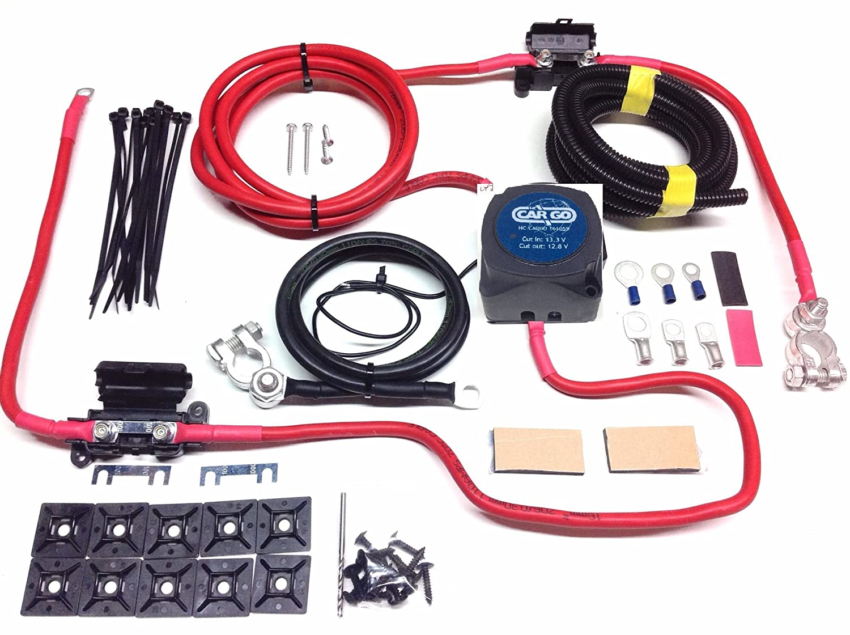 Kit ripartitore relè di carica di 12V, relè di tensione 140A e cavo 110A SCKC304 Simply Split Charge