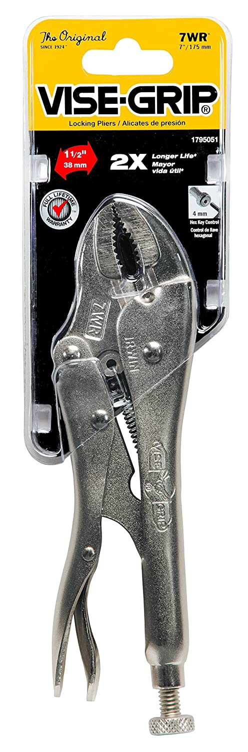 IRWIN 07-7WR Vise-Grip 7-Inch Curved Jaw with Wire Cutters - Tools Products - Amazon.com
