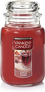 Yankee Candle Apple Cider Scented Premium Paraffin Grade Candle Wax with up to 150 Hour Burn Time, Large Jar