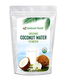 Organic Coconut Water Powder - All Natural Energy & Electrolyte Supplement - Perfect Pre or Post Workout Drink Mix - Delicious Water Enhancer - Vegan, Gluten Free, Non GMO, Kosher - 1 lb