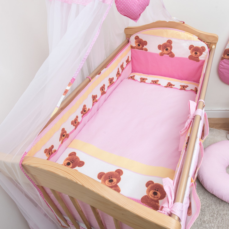 All-Round Bumper 360cm 6 Pcs Nursery Baby Cot Bedding Set 120x60cm Pattern 1