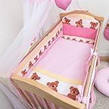 6 Pcs Nursery Baby Cot Bed Bedding Set, All-round Bumper 420cm, 140x70cm - Pattern 8