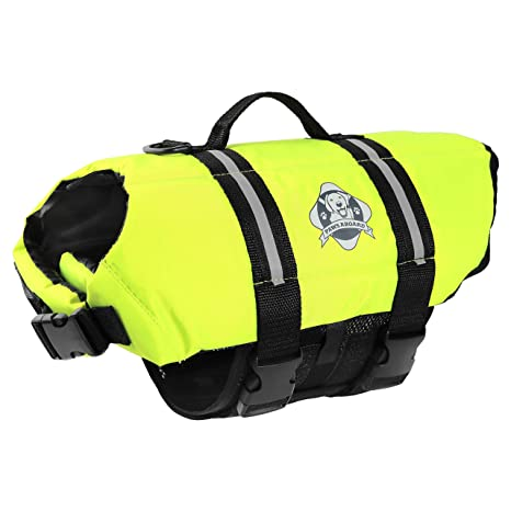 9d315d9b00 Paws Aboard Doggy Life Jacket - Safety Neon Yellow - Size Large (for Dogs 50