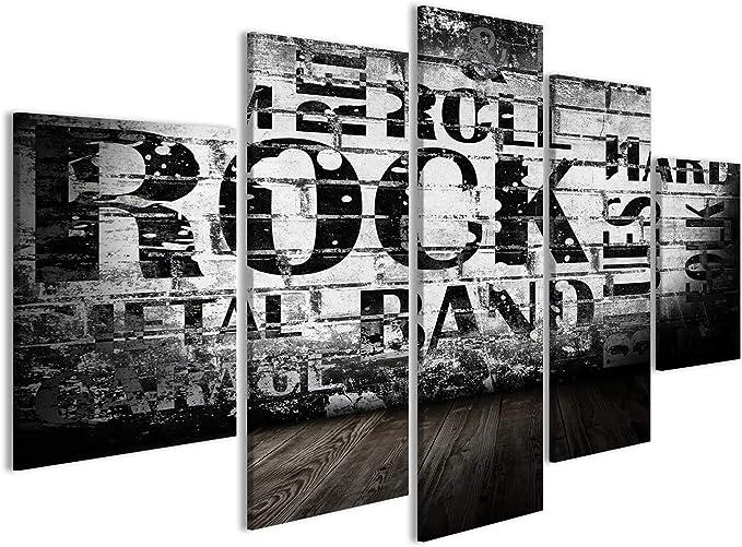 Cuadros Grunge Room con Texto de Estilo rockero