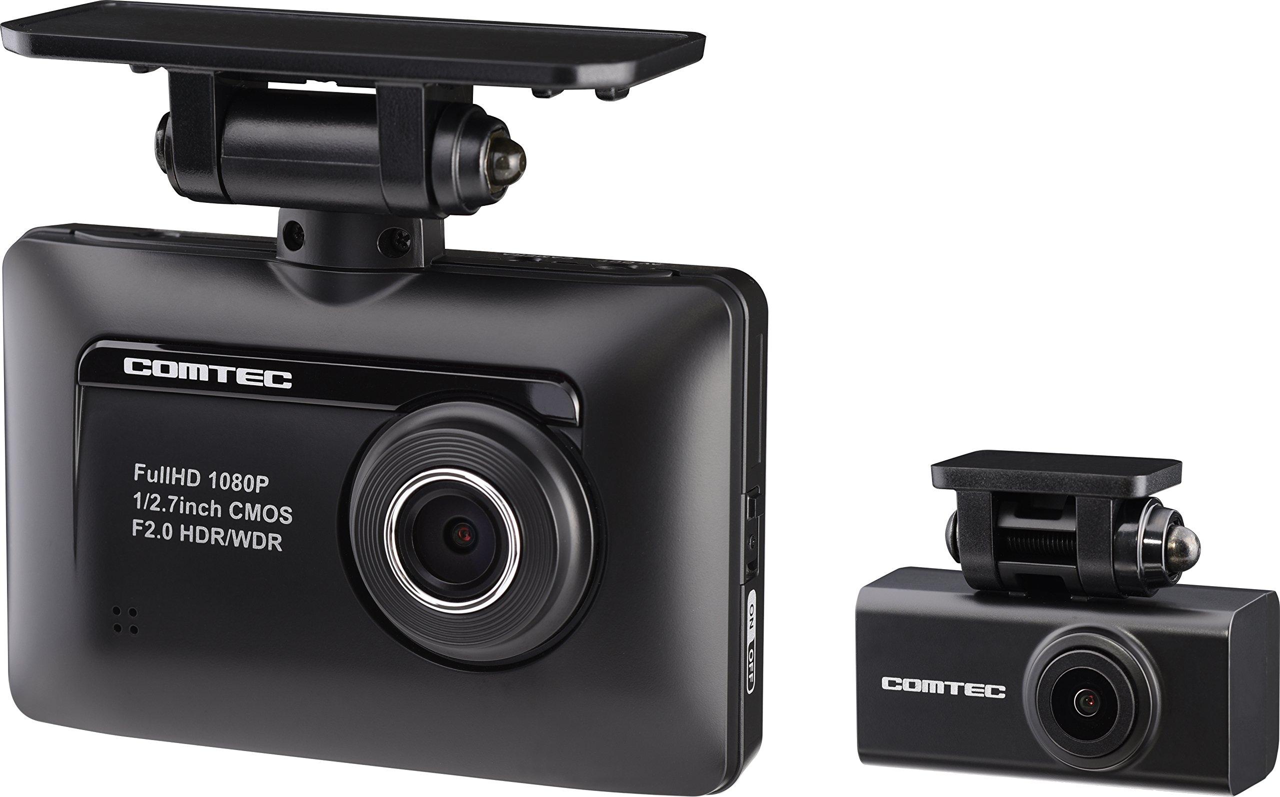 コムテック ドライブレコーダー ZDR-015 前後2カメラ 前後200万画素 microSDHC16GB付 Full HD GPS搭載 1年保証 常時/衝撃録画 高速起動 安全運転支援機能搭載 ZDR-015