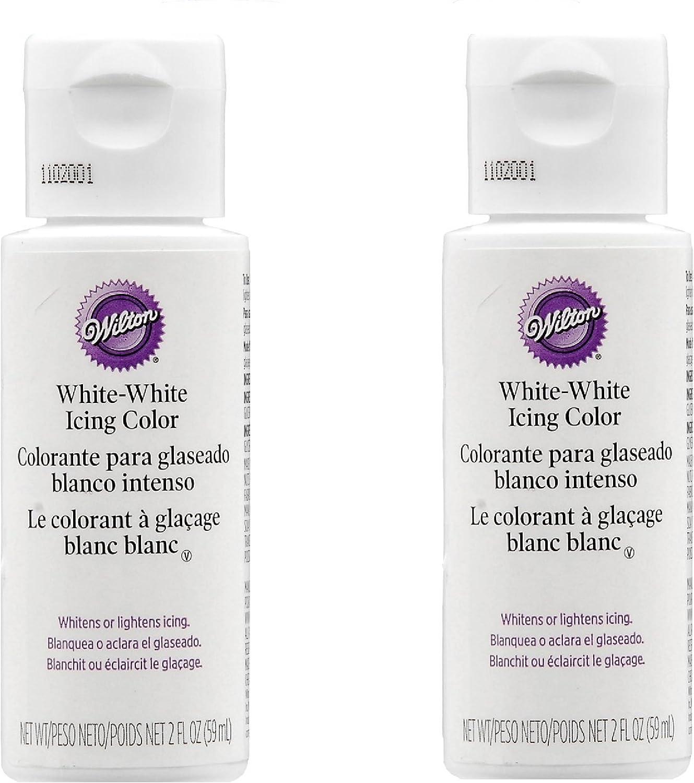 2 X Wilton 603-1236 Liquid Color, 2-Ounce, White