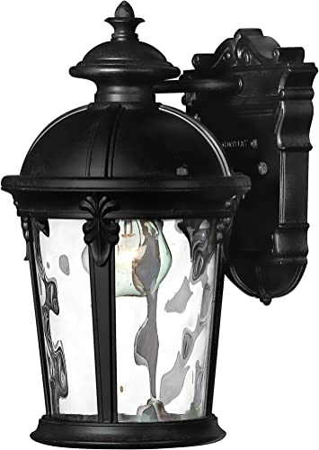 Hinkley 1890BK Traditional One Light Wall Mount from Windsor Collection in Black Finish, See Image
