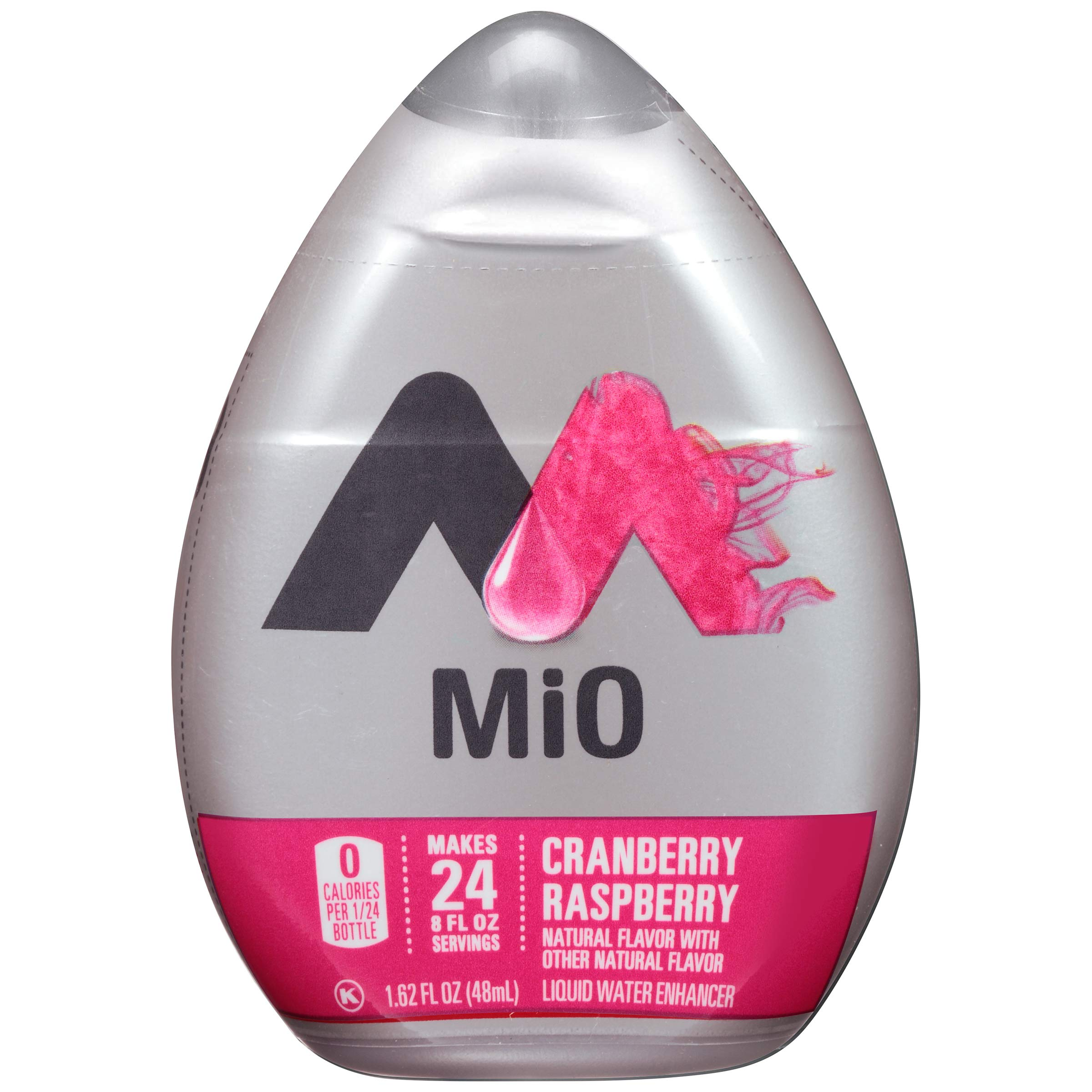 MiO Cranberry Raspberry Liquid Water Enhancer, 1.62 oz Bottles (Case of 12) by Mio